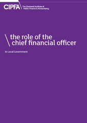 The Role of the Chief Financial Officer in Local Government